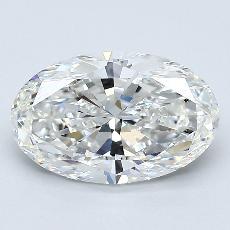 推薦鑽石 #1: 2.00  克拉橢圓形 Cut
