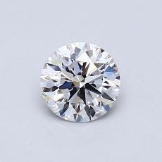 0.61-Carat Round Diamond Ideal E VVS2