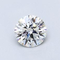 0,75-Carat Round Diamond Ideal E VS2