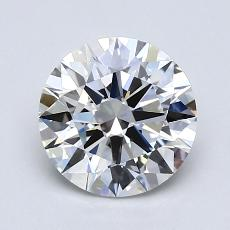 1.20-Carat Round Diamond Ideal F VVS2