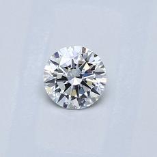 0.30 Carat 圓形 Diamond 理想 D VVS1