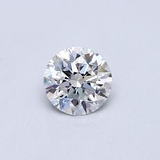 0,40 Carat Rond Diamond Idéale D FL
