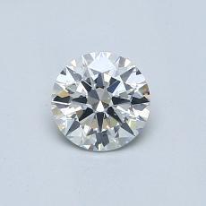 0.50-Carat Round Diamond Ideal I SI1