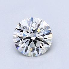 0.90 Carat 圓形 Diamond 理想 G VS1