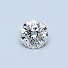 0,36 Carat Rond Diamond Très bonne J SI2