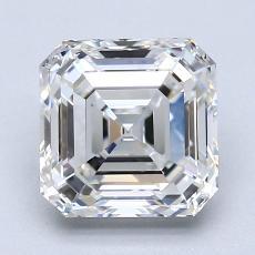 2.01 Carat Asscher Diamond Muy buena H VVS2