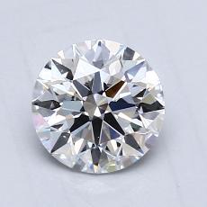 0,90 Carat Rond Diamond Idéale D VS1