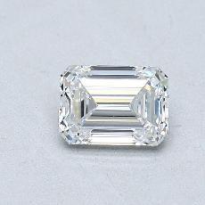 0.52-Carat Emerald Diamond Very Good D VVS1