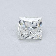 0.51 Carat 公主方形 Diamond 非常好 F VVS2