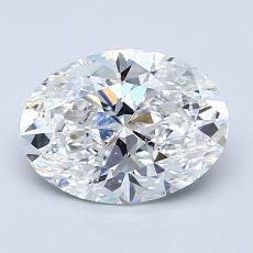 1.52 Carat 椭圆形 Diamond 非常好 D SI1