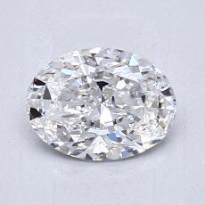 0.90-Carat Oval Diamond Very Good D VVS1