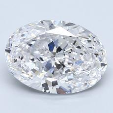 2.01-Carat Oval Diamond Very Good D SI2