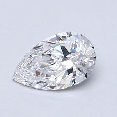 0.71-Carat Pear Diamond Very Good D IF