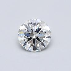 0,50 Carat Rond Diamond Idéale F VVS2