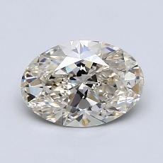 推荐宝石 4:1.00克拉椭圆形切割钻石