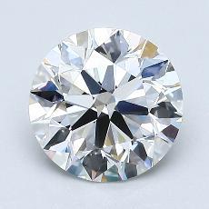 1.51-Carat Round Diamond Ideal H VS1