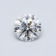0.60-Carat Round Diamond Ideal D VVS2