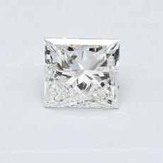 0.50 Carat 公主方形 Diamond 非常好 G SI1