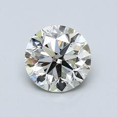 1,00 Carat Rond Diamond Bonne K SI2