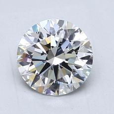 1,50 Carat Rond Diamond Idéale F VS1