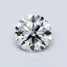 0,80 Carat Rond Diamond Idéale I VVS2
