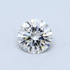 0.50-Carat Round Diamond Ideal F IF