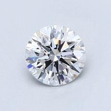 0.80 Carat 圆形 Diamond 理想 D VVS2