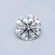 0.50 Carat 圓形 Diamond 理想 E VVS2
