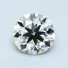 1,00-Carat Round Diamond Very Good I VVS2