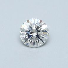 0,31-Carat Round Diamond Ideal F SI1
