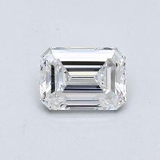 0.50-Carat Emerald Diamond Very Good D VVS1