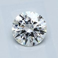 1.00 Carat Redondo Diamond Ideal F VVS2