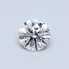 0.50-Carat Round Diamond Ideal E VVS2