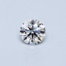0.24-Carat Round Diamond Ideal E IF