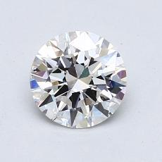 1.02 Carat 圆形 Diamond 理想 E VVS2