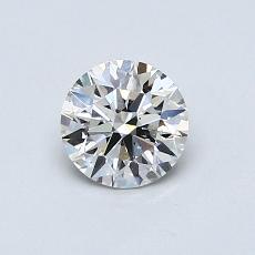0.60-Carat Round Diamond Ideal I SI1
