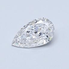 0.50-Carat Pear Diamond Very Good D VVS1