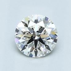 0,90 Carat Rond Diamond Idéale I VVS2