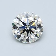 0.90-Carat Round Diamond Very Good J VS1