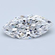 推荐宝石 1:1.20 克拉马眼形切割
