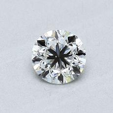 0.50-Carat Round Diamond Good F SI1