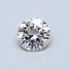 0,50-Carat Round Diamond Ideal J SI1