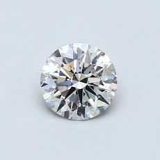 0,53 Carat Rond Diamond Idéale J VS2