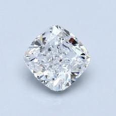 0.90 Carat 垫形 Diamond 非常好 E VVS1