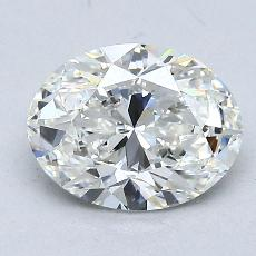 1.50-Carat Oval Diamond Very Good G VS1