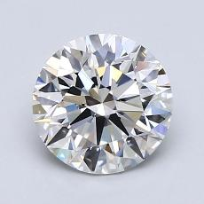 1.51-Carat Round Diamond Ideal E VVS2