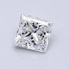推荐宝石 1:0.90 克拉公主方形钻石