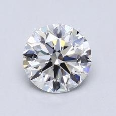 1,01-Carat Round Diamond Ideal G VVS2