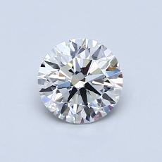 0.70-Carat Round Diamond Ideal G VVS1
