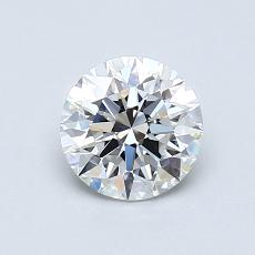 0.70-Carat Round Diamond Ideal F VVS1